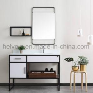 Gesundheitliche Ware-Wäsche-Bassin-Badezimmer-Schrank-Badezimmer-Eitelkeits-festes Holz u. MDF mit Spiegel-Badezimmer-Möbeln