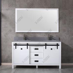 Novo Design grossista White 60 pia dupla armário de banheiro