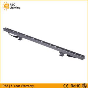 ENEC 세륨 ETL 승인되는 외부 조경 IP68는 DMX512 통제 18W/24W/36W/48W 가벼운 RGB LED 선형 벽 세탁기를 방수 처리한다