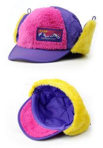 子供のための耳の折り返しが付いている熱い販売のカスタム冬のプラシ天の野球帽のかわいく暖かい赤ん坊の冬の帽子