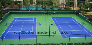 Tinta acrílica multiuso no Tribunal de desporto Badminton