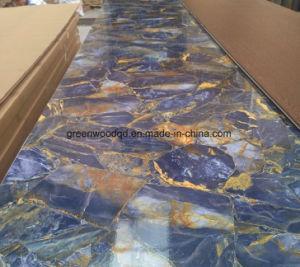 Hoog polijst de UV Marmeren Bladen van pvc voor de Binnenlandse Decoratie van het Huis
