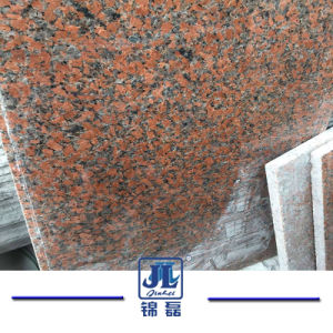 屋外か屋内のための磨かれたか、または炎にあてられた花こう岩のかえでの赤いG562石造りのタイル