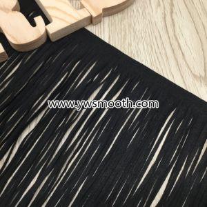 Comercio al por mayor de la moda de cuero Suede Borla Trim vestido de encaje ropa artesanal