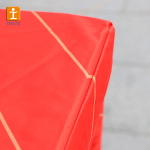 合われたテーブルクロスの黒の伸張の長方形の織物のテーブルクロスの熱転送の布ポリエステル