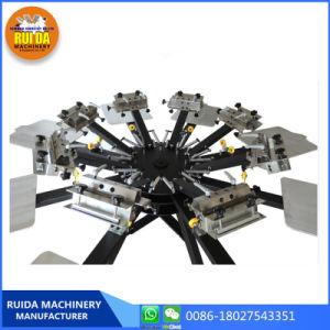기계를 인쇄하는 Ns808 씨 8 색깔 8 역 수동 회전하는 디지털 실크 스크린