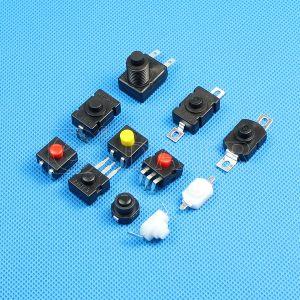 3つの位置PCBの懐中電燈の押しボタンスイッチの3 Pin