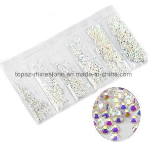 非Hotfix釘の装飾のための水晶Flatback Rhinestonsのスライバ背部石の別のサイズ。 (FBss4虹)