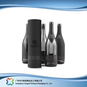 Kundenspezifischer Qualitäts-Papier-Wein-Kasten besser für Geschenk (xc-hba-012)