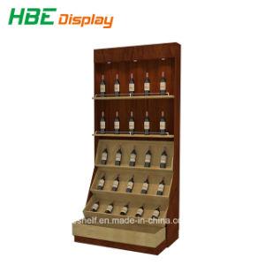 Hoher klassischer Wand-Typ hölzernes Wein-Verkaufsmöbel