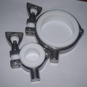 Gancio sanitario del tubo dell'acciaio inossidabile 304 con la guarnizione di PTFE