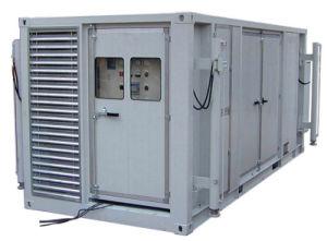 Gruppo elettrogeno diesel del contenitore con il trasformatore ed i comitati