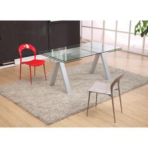 Restaurante moderno de cristal muebles mesa de comedor con sillas