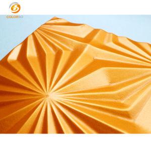 La superficie de tejido atractiva decoración interior panel 3D