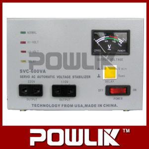 Regulador de tensão de servomotor monofásico SVC-600va