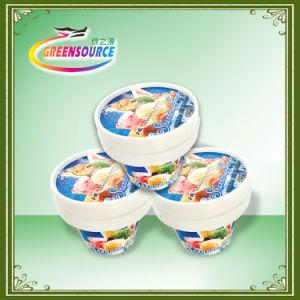 Etiqueta do logotipo da moda/nos rótulos do molde para copos de iogurte