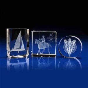 Laser Glass Crystal Award per Gift