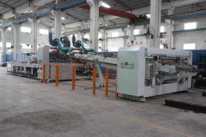 Gewölbtes Karton-Kasten-Drucken, welches das Falten kerbt, Maschine klebend