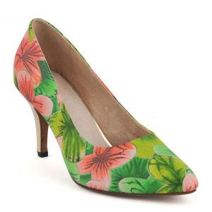 Telas impresas africano mujer zapatos de tacón