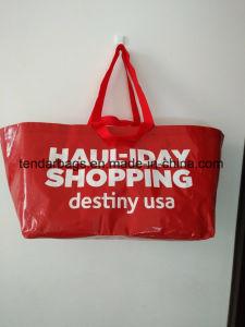 Grande promoção à prova de tecido PP reciclado Praia Saco sacola de compras de armazenamento