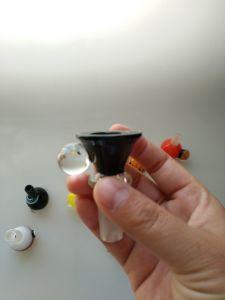Tubo de agua de cristal Accesorios fumadores tazón de vidrio.