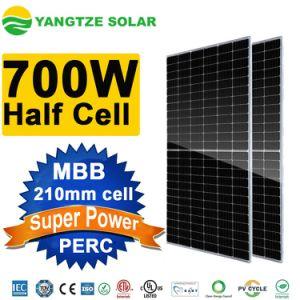 700W plus grande efficacité de 25 ans de garantie de la moitié cellule PV SOLAR SYSTEM avec Panneau Solaire Monocristallin batterie solaire Banque TUV CE ISO CEI