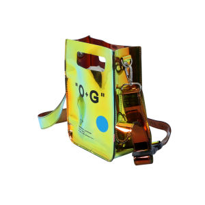 Moda Bolsas amarelo brilhante PVC impermeável Crossbody Bag Saco a tiracolo