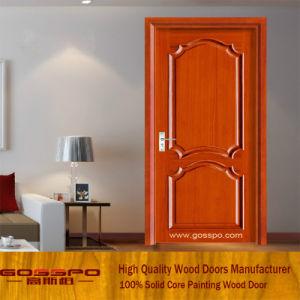 Portello di legno solido verniciato della stanza di colore rosso (GSP6-005)