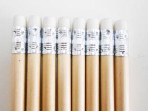 Matita di legno naturale della matita dell'HB della matita con l'eraser