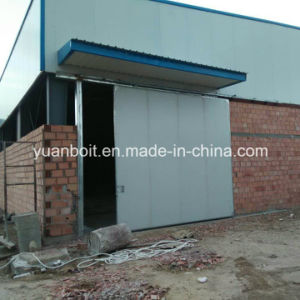 Edificio prefabricado largo del almacén de la estructura de acero del palmo en África