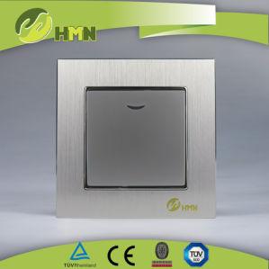 Estándar de la UE interruptor de pared de aluminio pulido