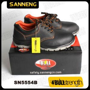 6a058d90162 Sanneng de calçado em couro Calçado de segurança superior de base com S3  Src (SN5554)