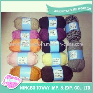 Lãs de tecelagem extravagantes respiráveis do ofício que tricotam manualmente o fio