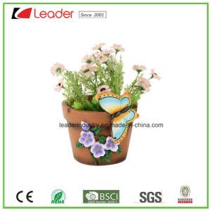 Polyresin кадки с бабочка украшение для дома и сада оформление