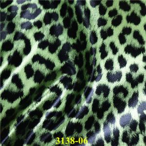 Мода Leopard зерна PU синтетическая кожа для обуви и сумок