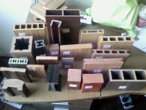 Decking de WPC: Madeira do PE: Plataforma plástica de madeira