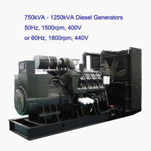 침묵하는 유형 1000kw 1250kVA 디젤 엔진 발전기 50Hz
