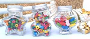 Copo de vidro de açúcar Heart-Shaped caneca de vidro de armazenamento
