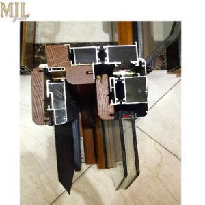 Luxo Madeira Janela Casement revestido de alumínio