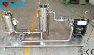 Einzelnes Kassetten-Wasser-Filtergehäuse mit Pumpe