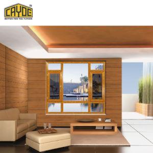 Wood-Grain van Cayoe van Foshan het Openslaand raam van het Scherm van het Insect van het Ontwerp