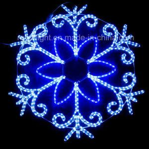 De Kabel van Kerstmis van sneeuwvlokken steekt LEIDENE Waterdichte BuitenDecoratie aan