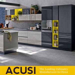 Armário de cozinha de puxar os dedos mobiliário com cores diferentes (SCA2-L197)