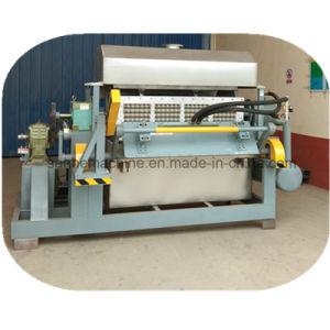 Tipo rotativo de Pasta de Papel Reciclado bandejas de ovos de Moldagem Máquina/ máquina de formação de contentores de resíduos de papel