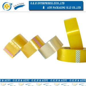 南朝鮮の顧客のための黄色がかったOPPのパッキングテープ