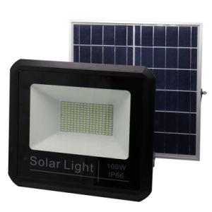 La superficie de 100 watios de alta potencia de altas prestaciones inteligentes de seguridad Industrial Farol exterior IP65 Lámpara Solar de 100W Reflector LED