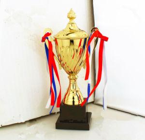 2018新しい到着カスタム装飾(013)として金によってめっきされるアルミニウム物質的で特別な賞のトロフィ