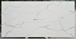 Commerce de gros Foshan Calacatta Quartz en faux marbre blanc de dalle de pierre de comptoirs de cuisine