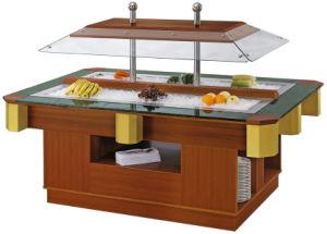 De commerciële het 2-kanaal van de Luxe Houten en Marmeren Staaf van de Salade