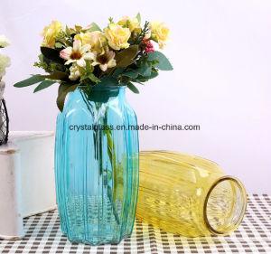 Farbiges achteckiges Glasvasen-Zoll-Firmenzeichen